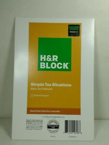 H&R Block Basic Tax Software 2020  New Sealed SHIPS FAST