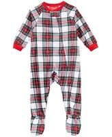 Family Pajamas Baby Unisex Boys or Girls One-Piece Footed PJs, Stewart Plaid
