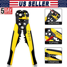 Self Adjusting Insulation Wire Strippercuttercrimper Cable Stripping Tools 8