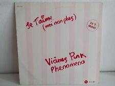 """MAXI 12"""" VIVOIS PINK PHENOMENA Je t aime moi non plus GAINSBOURG ACD 13 7030"""