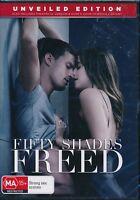 Fifty Shades Freed DVD Unveiled Edition NEW Region 2 and 4 Dakota Johnson