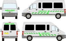 Ambulance Chevron decals stickers graphics Emergency First Aid event support LWB
