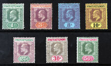 STRAITS SETTLEMENTS KE VII 1902-03 Wmk Crown CA Part Set SG 110 to SG 118 MINT