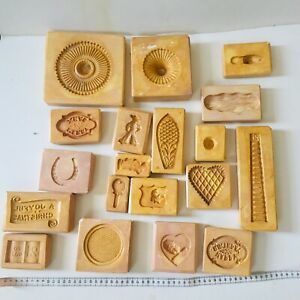 Vintage 1960's ceramic cookie cutters / cake decorations / mould  x 19. Charity