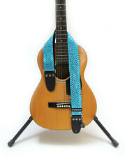 "GUITAR STRAP KID SIZE  SPARKLE TURQUOISE  2"" by: Capturing Couture KID20-SPTQ"