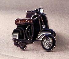 métal émail épinglette broche SCOOTER VESPA Moto Motard Cavalier Noir