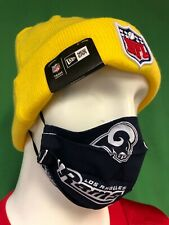 M257 NFL Los Angeles Rams Face Mask Covering Handmade from Licensed Fabric New