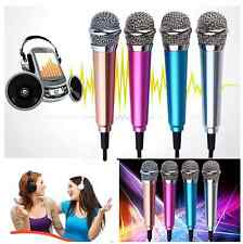 3.5mm Mini Stereo Studio Speech Microphone Mic For iPhone PC Laptop