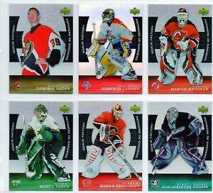 2005/06 McDONALDS GOALIE FACTORY COMPLETE 15 CARD SET