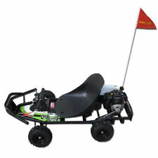 Mini ScooterX Baja 49cc Off Road Go Kart Scooter Cart Black Green Sticker Kit