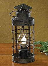 LANTERN~ELECTRIC TABLE LAMP WITH HURRICANE GLASS~PARK DESIGNS