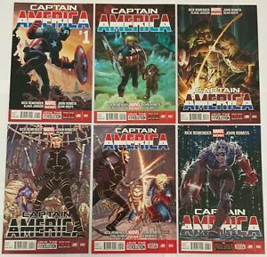 Captain America 2013 Complete 25 Issue Series Set 1-25 First Sam Wilson as Cap