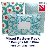 BLUE MIX PACK Post Postal Plastic Poly Mailing Bags Printed - Polka Dot Floral