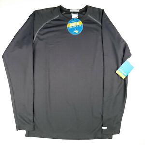 COLUMBIA Boys OMNI SHADE UPF 50 INSECT BLOCKER BUG SHIELD Long Sleeve Shirt Gray