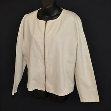 THE EARTH COLLECTION RAMIE / COTTON JACKET / BLAZSER LONG SLEEVE BEIGE 14 / 16