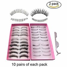 Teenitor Anime Eyelashes, 20 Pair Desgin Japanese Cosplay Fake False Upper Lower