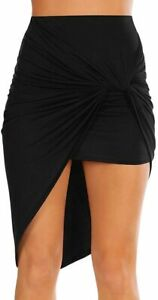 Sexy Mini Skirts for Women Bodycon High Waisted Boho High Low Pencil Summer Skir