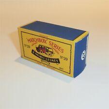 Matchbox Lesney 29 a Milk Van Truck empty Repro B style Box