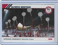 2014 TOPPS OLYMPIC OPENING CEREMONY / HERITAGE CARD OH-16 ~ 1992 ALBERTVILLE FRA