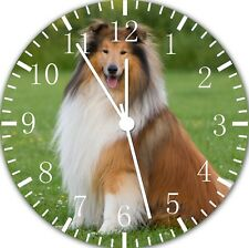 Rough Collie Dog Wall Clock Nice For Gift or Home Office Wall Decor F60