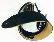 FENDER F Suede Leather Strap Gitarrengurt, black