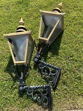 More details for pair of large old pub lantern light, please read !