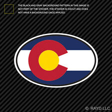 Colorado State Flag Oval Sticker Die Cut Decal V4 CO