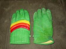 Vintage - NORTH COUNTRY GLOVES - Green & Rainbow Snowmobile Winter - Size MenXL