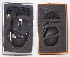 Mad Catz Cyborg RAT R.A.T. 7 Laser Gaming Mouse 6400 dpi for PC Mac Black (box)