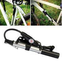 Vtt Pompe Route Vélo Bicyclette Gonfleur Haute Pression Outils 197mm Portable
