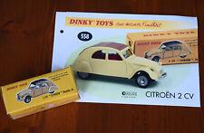 Dinky Toys 558 Citroen 2CV UNGEÖFFNET mit DINKY original BEILAGE PROSPEKT