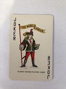 Joker Card, Plastic Coated , Vintage