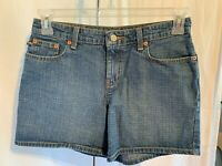 "Ralph Lauren Size 4 Polo Jeans Company 5"" SATURDAY Denim Blue Jean Shorts"