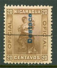 """Nicaragua 1901 Official 20¢ """"Destace"""" Cattle Tax VFU H406 ⭐⭐⭐⭐⭐⭐"""