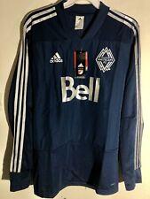 Adidas Long Sleeve MLS Jersey Vancouver Whitecaps Team Navy sz M