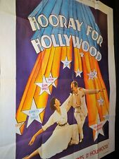 HOORAY FOR HOLLYWOOD  mae west cary grant affiche cinema comedie musicale