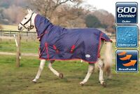NEW Rhinegold Torrent Full Neck Lightweight Waterproof Horse Turnout Rug Dottie