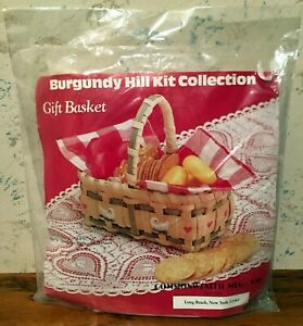 Vintage 1988 Commonwealth Burgundy Hill Collection Gift Basket Kit Sealed