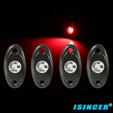 4 Pods For Car Truck Red Led Rock Lights, Waterproof Led Neon Underglow Lights(Fits: Neon)