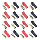 8 Paar Rot / Schwarz XT150 Vergoldet Verbinder 60A Amass