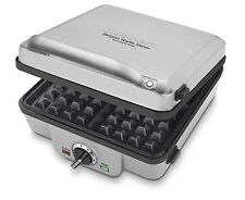 Cuisinart WAF-300 Belgian Waffle Maker+Pancake Removable Plates stainless steel