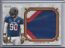 JULIUS PEPPERS 2013 TOPPS MUSEUM GOLD JUMBO 3 COLOR PRO BOWL PATCH #D 5/25
