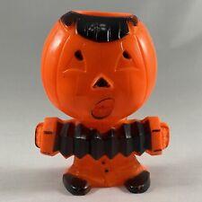 New ListingVintage Rosbro Plastic Jol Pumpkin Head Playing Accordion
