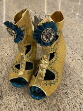 Disney Store Blue Princess Merida Shoes Girl's Sz 2/3 Glitter Costume Nwt
