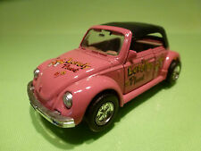 WELLY 8661 VW VOLKSWAGEN KÄFER 1303 CONVERTIBLE LOVELY PLANT- PINK 1:38? - GOOD