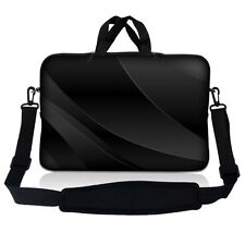 "17.3"" 17.4 Laptop Sleeve Bag Case w Handle & Shoulder Strap Twilight Gray Black"