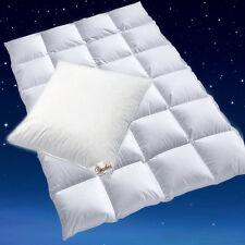 100 sibirische DAUNEN Bettdecke Daunenbett Kissen Bettenset 155x220 80x80 Cm