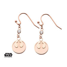 Star Wars Earrings Rebel Alliance Symbol & Cubic Zirconia (rose gold plated)