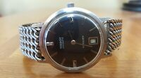 Vintage 60's 70's Tissot Visodate Stylist Winding Men's Wrist Watch Black Dial