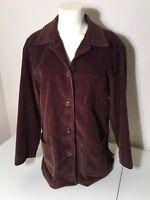 GAP Women's Brown Corduroy Blazer 4 Button Jacket Size Small Fits Big
